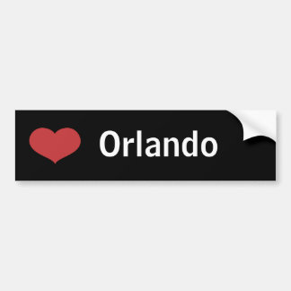 Heart Orlando Car Bumper Sticker