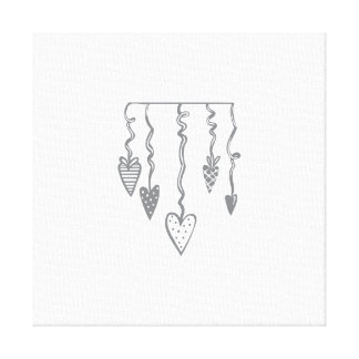 Heart Ornament Stretched Canvas Prints