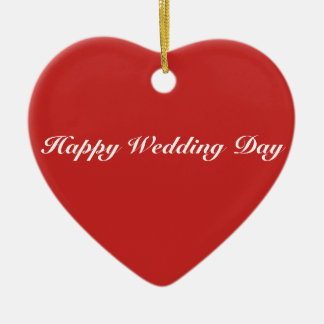 Heart Ornament - Happy Wedding Day