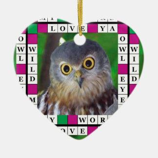 Heart Ornament with Owl Design - Owl-alishush