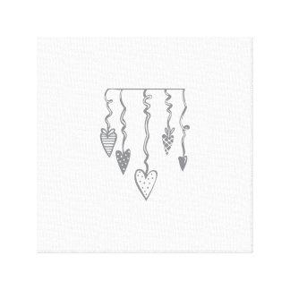 Heart Ornaments Canvas Prints