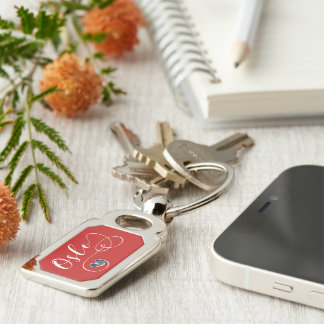 Heart Oslo Keyring, Norway Key Ring