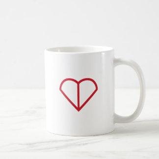 Heart Outline Basic White Mug