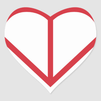 Heart Outline Heart Sticker