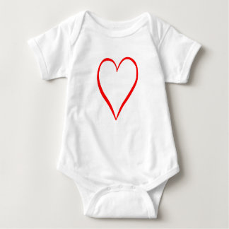 Heart painted on white background baby bodysuit
