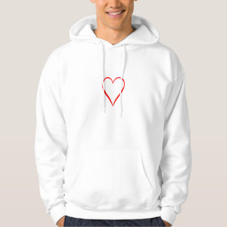 Heart painted on white background hoodie