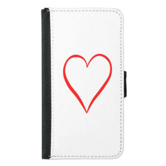 Heart painted on white background samsung galaxy s5 wallet case