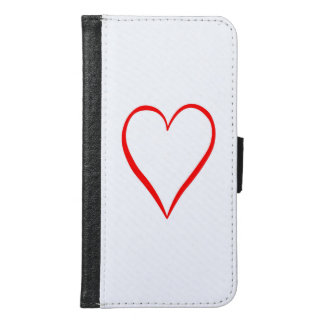 Heart painted on white background samsung galaxy s6 wallet case