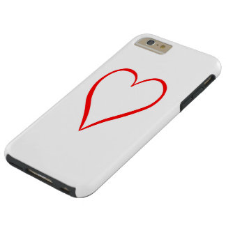 Heart painted on white background tough iPhone 6 plus case