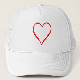 Heart painted on white background trucker hat