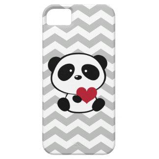 Heart Panda Love Chevron Pattern iPhone 5 Cases