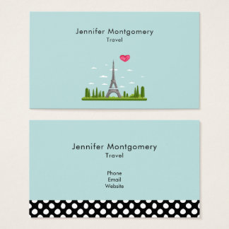 Heart Paris with Eiffel Tower Business Card
