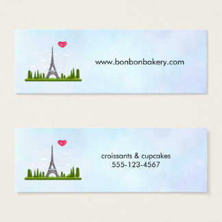 Heart Paris with Eiffel Tower Mini Business Card