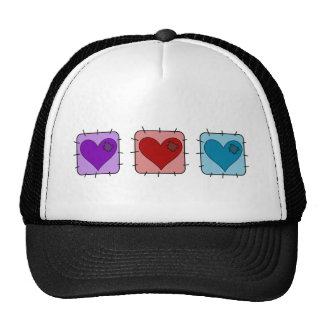 Heart Patch Mesh Hat