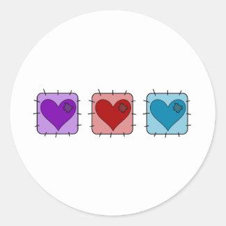 Heart Patch Round Sticker