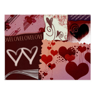 Heart Patches Postcard