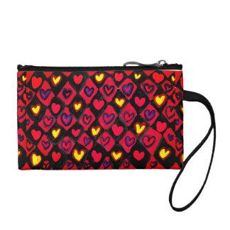Heart path coin purse