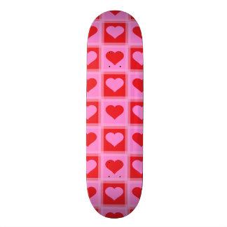 Heart pattern 3 Dark 20.6 Cm Skateboard Deck