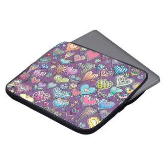 Heart-Pattern Neoprene Laptop Sleeve