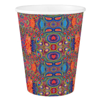heart pattern paper cup