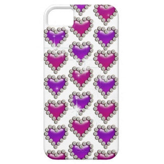 Heart pattern pink purple white iPhone 5 covers