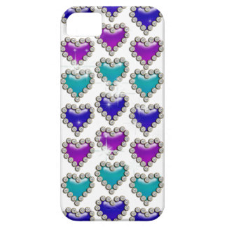 Heart pattern purple blue iPhone 5 cover