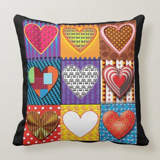 Heart pattern trendy Valentine's Cushion