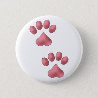 Heart Paws 6 Cm Round Badge