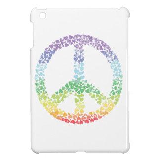 Heart Peace sign distresses Case For The iPad Mini