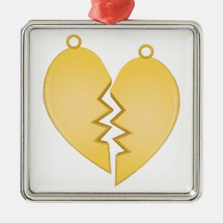 Heart Pendants Silver-Colored Square Decoration