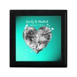 Heart Photo Frame Wedding Keepsake Small Square Gift Box