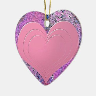 Heart picture christmas ornament