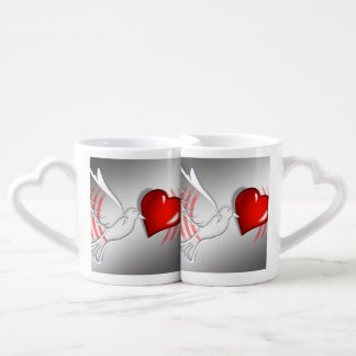 Heart pigeon as cup