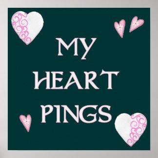 Heart Pings Ping Pong Print