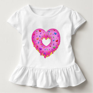 Heart Pink Donut with rainbow sprinkles Toddler T-Shirt