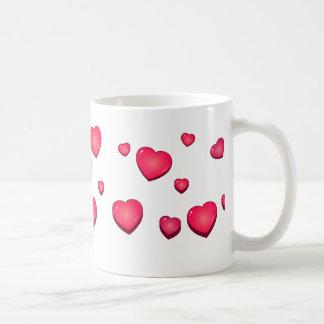 Heart pink mung coffee mugs