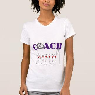 Heart Players and Ball Design Netball Coach T-Shirt