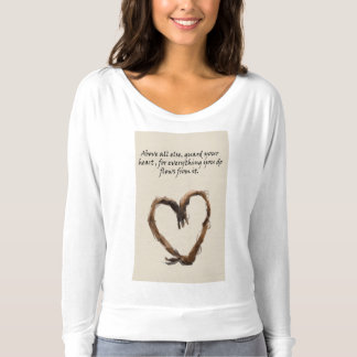 heart poly art on t'shirt. T-Shirt
