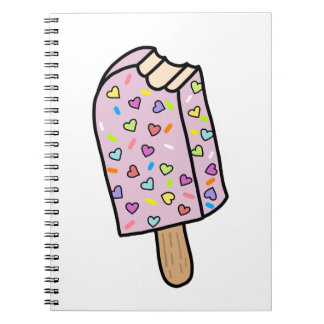 Heart Popsicle cute shirts, accessories, gifts Notebook