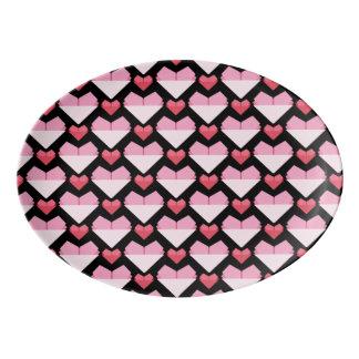 Heart Porcelain Serving Platter