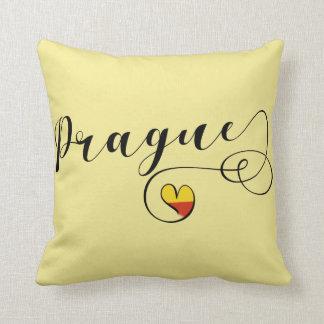 Heart Prague Pillow, Czech Republic Cushion