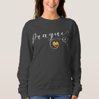 Heart Prague Sweatshirt, Czech Republic Sweatshirt