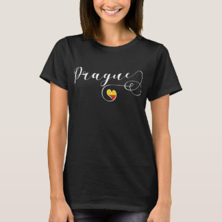 Heart Prague Tee Shirt, Czech Republic