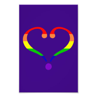 Heart Pride day of San Valentin and rainbow Photo Art