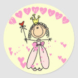 Heart Princess Tshirts and Gifts Round Stickers