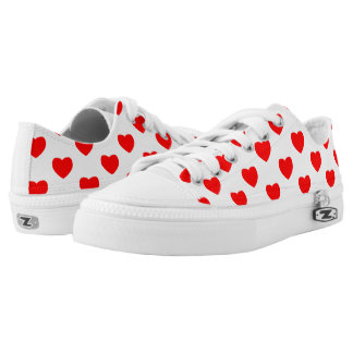 Heart prints on Custom Zipz Low Top Shoes Printed Shoes