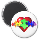 Heart Puzzle Links Refrigerator Magnet
