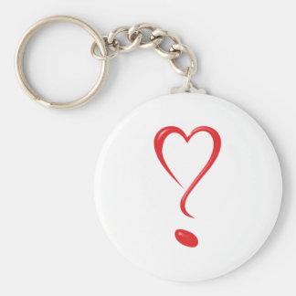 Heart question heart question heart question Marks Keychains