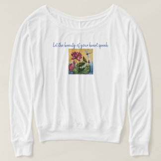 Heart Quote Dragonfly Art Flowy Muscle Tank