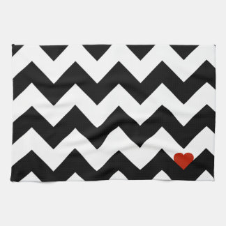 Heart & Rafter - Red Black/Traditional Hand Towels